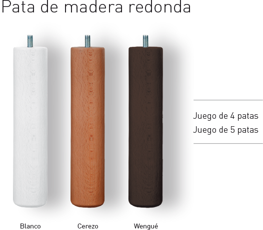 conforttex accesorios pata madera